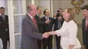 El Rey Don Juan Carlos recibe a la comunidad española en Uruguay Video: