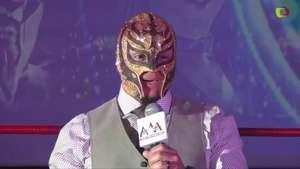 La familia AAA le da la bienvenida a su nuevo elemento: Rey Mysterio Jr. Video: