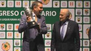 Juan Ángel Napout, nuevo presidente de la Conmebol Video: