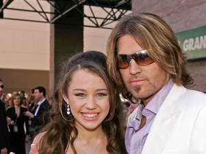 Miley y su padre Billy Ray Cyrus. Foto: Getty Images