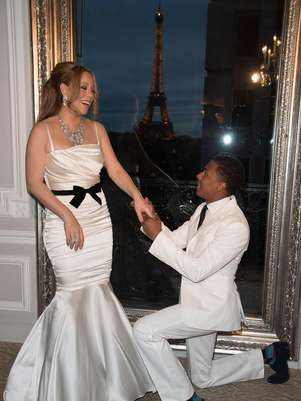 Mariah Carey y Nick Cannon renovaron votos en París Foto: Getty Images