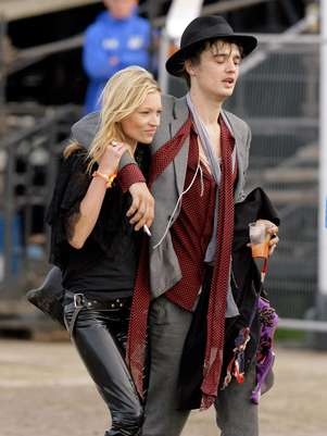Pete Doherty y Kate Moss una relación confilctiva Foto: Getty Images