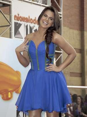 """Isabella Castillo llega a los Kids' Choice Awards en Los Angeles en una fotografía del 31 de marzo de 2012. Castillo fue nominada el viernes 6 de julio de 2012  como mejor actriz en los Kids' Choice Awards México  por su papel estelar en la serie juvenil """"Grachi"""", nominada como mejor programa.  Foto: Jason Redmond, archivo / AP"""