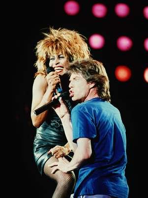 Tina Turner y Mick Jagger en una postal clásica del Live Aid Foto: AFP
