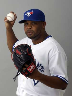This 2012 file photo shows Francisco Cordero of the Toronto Blue Jays baseball team. The Houston Astros have acquired closer Cordero and outfielder Ben Francisco as part of a 10-player trade with Toronto.  Foto: AP in English