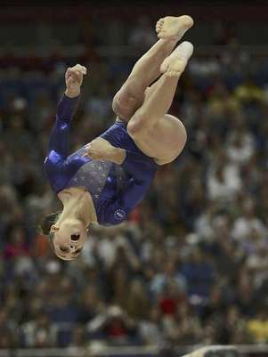 Jordyn Wieber of the U.S. performs on the balance beam during the