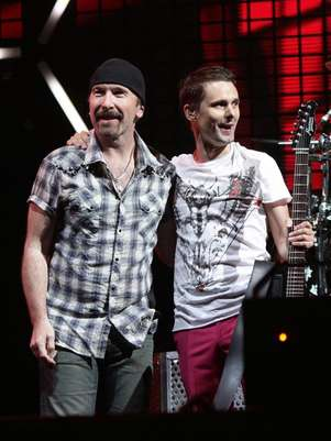 The Edge junto a Matt Bellamy de Muse Foto: Facebook