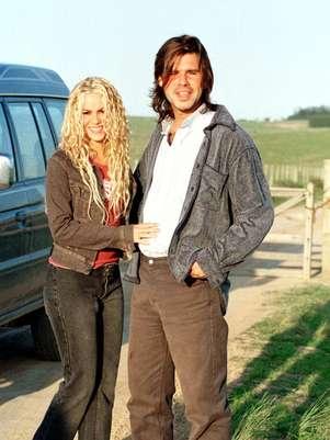 Shakira y Antonio de la Rúa cuando eran novios Foto: AFP