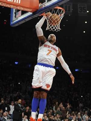 Carmelo Anthony anotó 19 de sus 33 puntos en el último período. Foto: AP