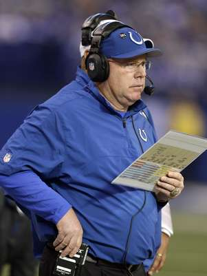 Indianapolis colts offensive coordinator Bruce Arians was released from the hospital Wednesday. Foto: AP in English