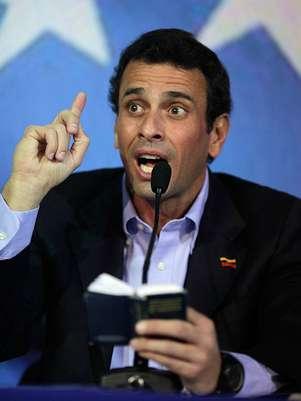 Henrique Capriles enfrentará a Nicolás Maduro en los comicios electorales para definir al nuevo presidente deVenezuela. Foto: AP