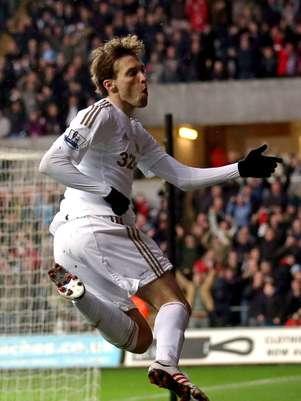 Michu, jugador español del Swansea Foto: Getty Images