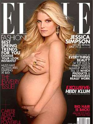 It's a girl!. Jessica Simpson posa desnuda y confirma que espera una nena. Foto: Revista Elle
