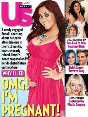 """Snooki finalmente confirmó su embarazo y asegura que no le importa """"nada"""" lo que la gente diga. Foto: Revista US Weekly"""