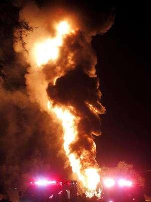 Un gasoducto de Petróleos Mexicanos se incendió en Jalisco. Foto: EFE