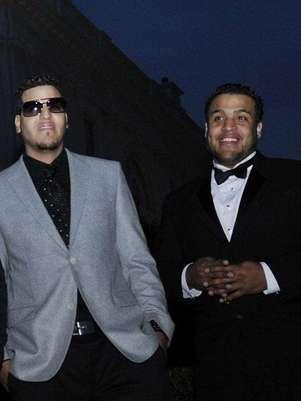 Lenny Santos (derecha) señaló que Aventura no se separa, aún grabarán un disco más. Foto: GettyImages