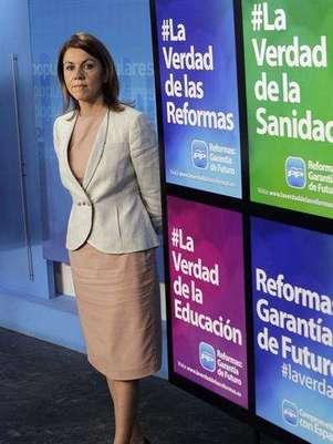 María Dolores de Cospedal (Agencia: EFE) Foto: Telefónica de España, SAU