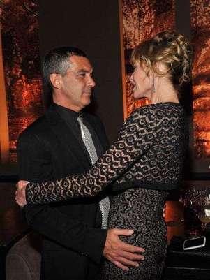 Antonio Banderas y Melanie Griffith. Foto: Getty