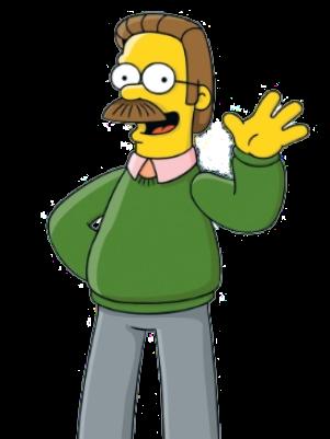 Ned Flanders, personaje de Los Simpson, es uno de los zurdos más conocidos del mundo. Foto: 20th Century Fox