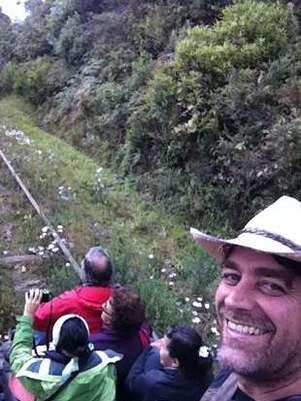 En Colombia disfrutando de la sabana. Foto: Reproducción twitter.