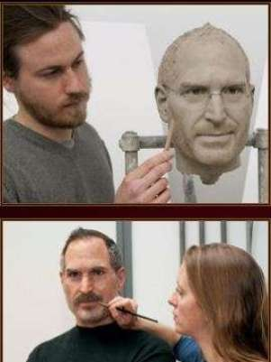 Escultura de cera de Steve Jobs Foto: Terra