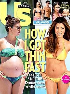 Más de 20 kilos subió en su último embarazo. Foto: Reproducción Us Weekly