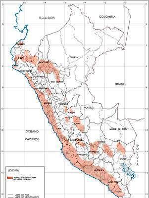 Mapa sísmico del Perú Foto: PREDES