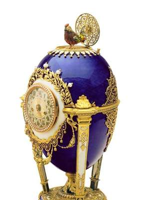 Faberge diseñó un número indeterminado de huevos, no ya imperiales, para personalidades de relieve mundial como Alfred Nobel.  Foto: EFE en español