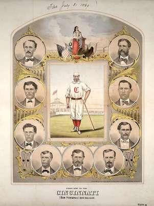 Cincinnati Base Ball Club fue el primer equipo profesional de beisbol. Foto: Divulgación Internet