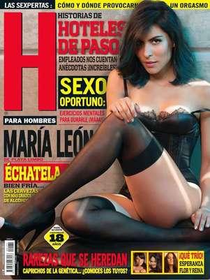 María León aparece con poca ropa en la edición de agosto de la revista H. Foto: Revista H para Hombres