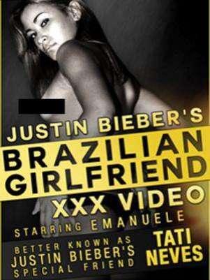 Material XXX de Tati Neves, la joven que durmió con Justin Bieber. Foto: TMZ