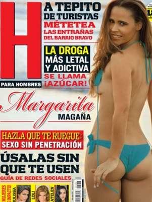 Margarita Magaña robó suspiros con su foto de portada. Foto: Revista H para Hombres