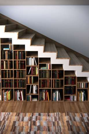 Ideas de libreros originales para tu hogar for Librero escalera