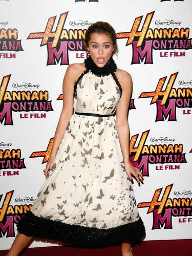 PARIS - APRIL 27:  Miley Cyrus attends the premiere of \