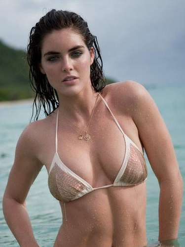 La modelo de Sports Illustrated Hilary Rhoda se rumora es la pareja de Mark Sanchez, quarterback de los Jets