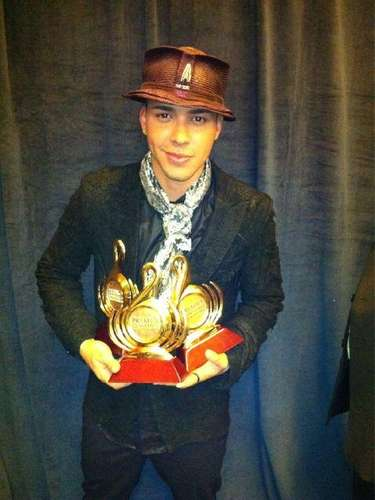 Prince Royce and his collection of prices.