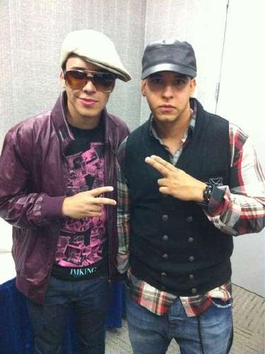 Here he is with Daddy Yankee, with whom he recorded the duet \