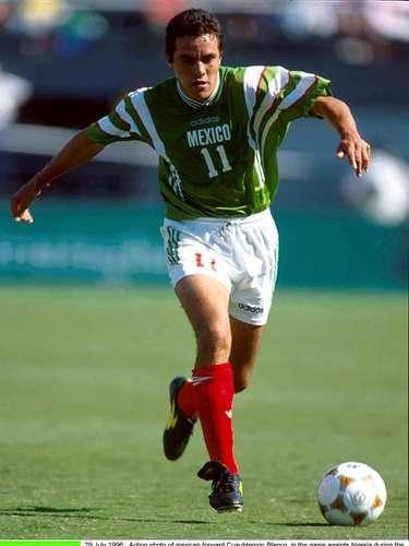 Cuauhtémoc Blanco estuvo con México en los Juegos Olímpicos de Atlanta 1996.