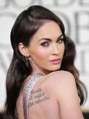 Megan Fox, otra de las bellas con tatuajes