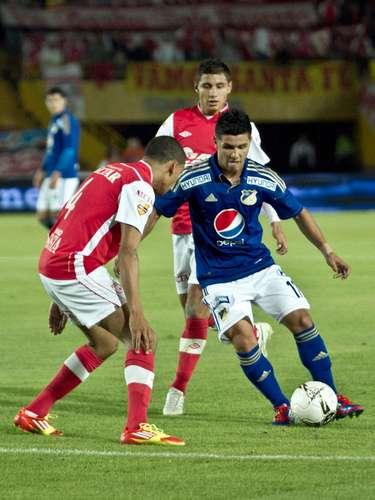 Omar Vásquez tuvo una en el primer tiempo tras un centro a ras de piso por parte de Cosme que remató a las manos del arquero Vargas
