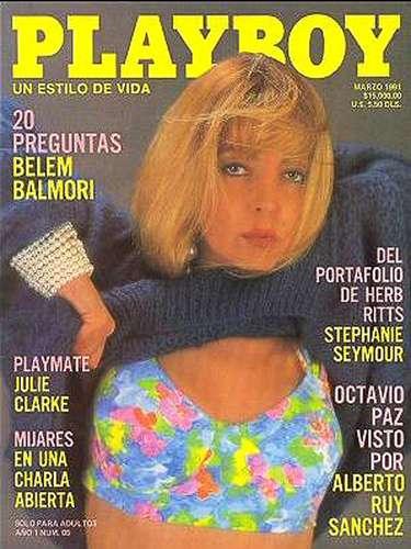 La conductora Belem Balmori, quien era conocida por su trabajo en el programa 'Mi Barrio' y sus actuaciones en un puñado de telenovelas, posó para Playboy en marzo de 1991.