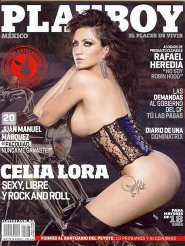 Después del escándalo que la llevó a la cárcel, Celia Lora aprovechó el tren de su fama y se embolsó una buena cantidad por desnudarse para Playboy. Los que compraron el número de octubre de 2011 dijeron que la hija de Álex Lora se aprovechó demasiado de los retoques fotográficos.