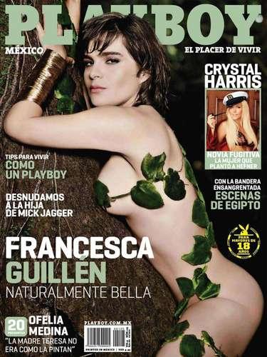 Francesca Guillén participó en una sesión de fotos muy natural para Playboy en julio de 2011.