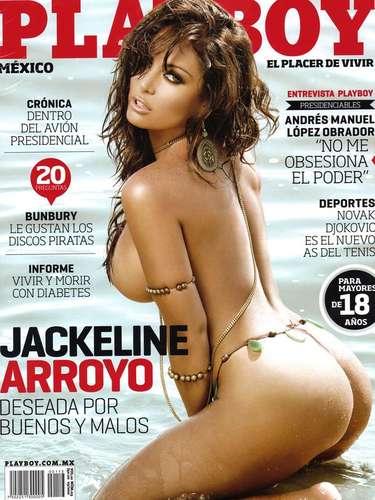 La conductora y actriz Jackeline Arroyo intentó revitalizar su carrera posando al natural en Playboy por allá de marzo de 2012.