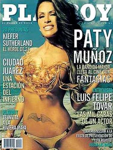Paty Muñoz aprovechó la racha de fama que traía en 2004 y consiguió ser la portada del número de abril en Playboy. Antes y después de eso, pocos eran/son los que estaban/están al pendiente de su trayectoria.