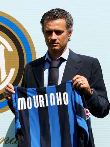 5. Mourinho was named the new coach at Inter Milan June 3, 2008. Here, he attends the photocall of the press conference held at La Pinetina in Milan, Italy.