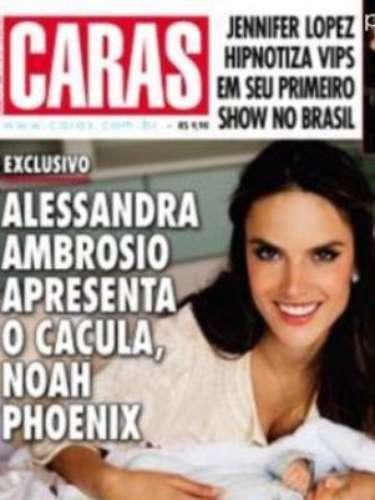 Alessandra Ambrosio presenta a su hijo recién nacido bebé Noah Phoenix. La modelo asegura que recuperó su peso gracias a sesiones de yoga y una estricta dieta hipocalórica.