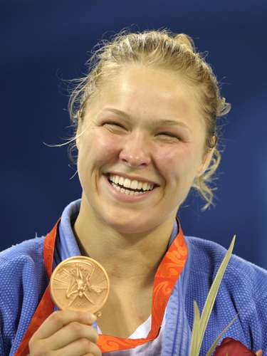 Ronda Rousey won the bronze medal in judo at the Beijing 2008 Olympic Games.
