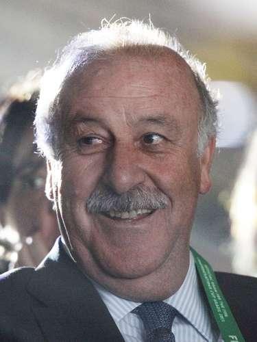 El técnico de España, Vicente Del Bosque, también estuvo presente en el evento.