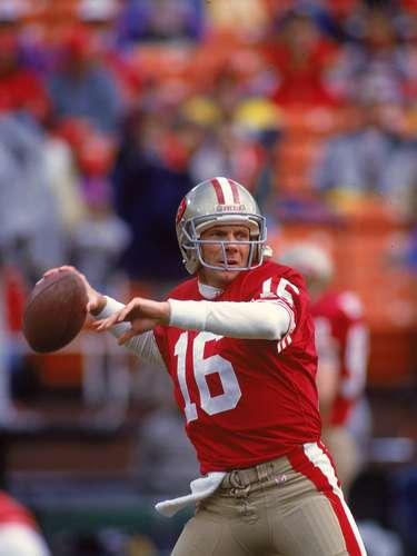 Joe Montana, otro histórico de la NFL, para muchos el mejor mariscal de campo de la historia y sus números son tan grandes que lo avalan cuatrotítulos de Super Bowl, en tres de ellos fue el Jugador Más Valioso. Fueocho veces Pro Bowl ysiete años el mejor mariscal de campo de la liga.